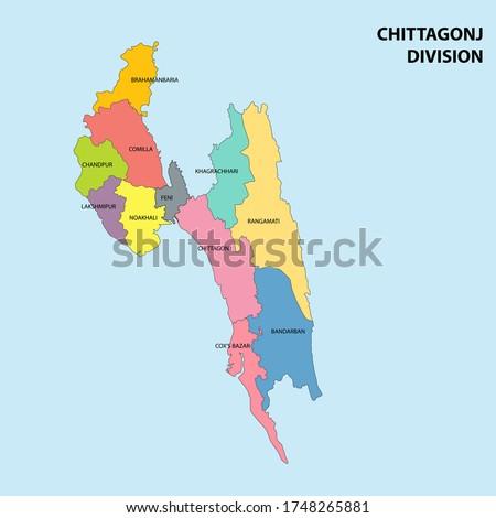 chittagong division map of