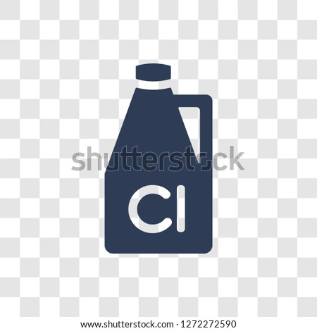 Chlorine icon. Trendy Chlorine logo concept on transparent background from Hygiene collection