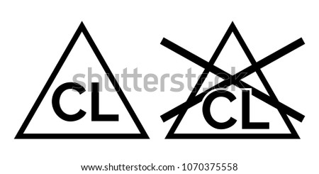 Chlorine free vector art 4 free downloads stock vector chlorine no bleach signs vector icons urtaz
