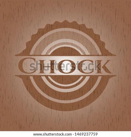 Chock wood signboards. Vector Illustration.