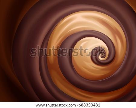 chocolate and caramel sauce