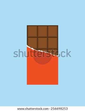 chocolate bar icon  modern
