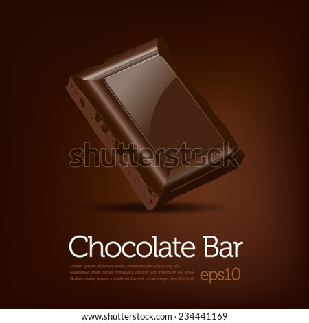 chocolate bar on brown dark