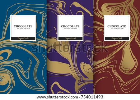 chocolate bar packaging set