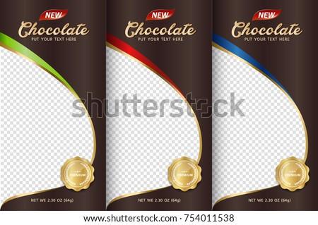 chocolate bar packaging set