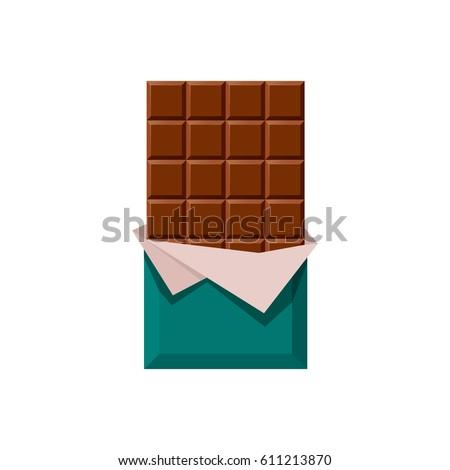 chocolate bar vector illustration