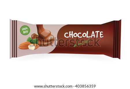 chocolate bar with almond mock