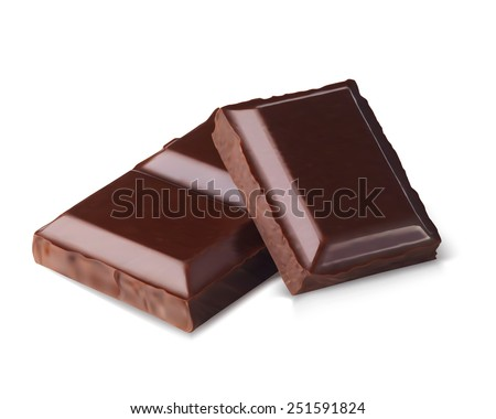 chocolate bars isolated on