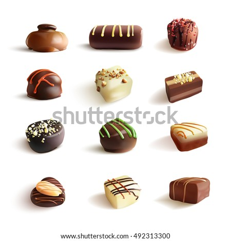 chocolate candies big set