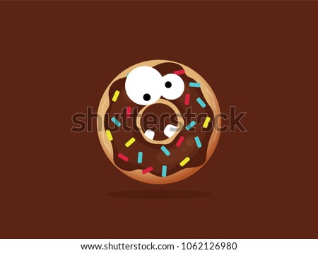 chocolate cartoon monster donut