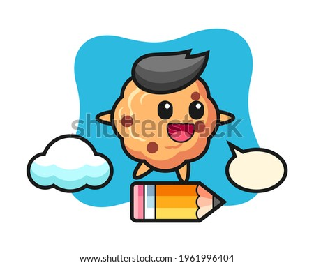 chocolate chip cookie mascot