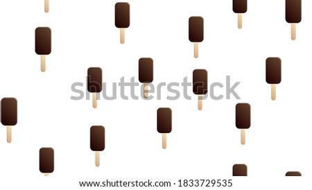 chocolate coated ice cream