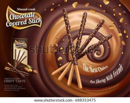 chocolate covered stick ads