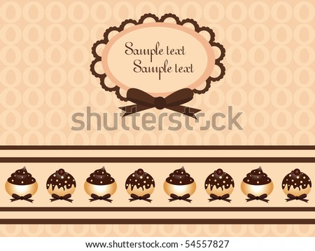 Logo Design Chocolate on Chocolate Cupcake Design Stock Vector 54557827   Shutterstock