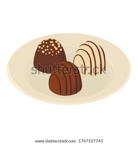 Chocolate dessert icon. Isometric illustration of chocolate dessert vector icon for web