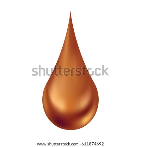 chocolate droplet vector on