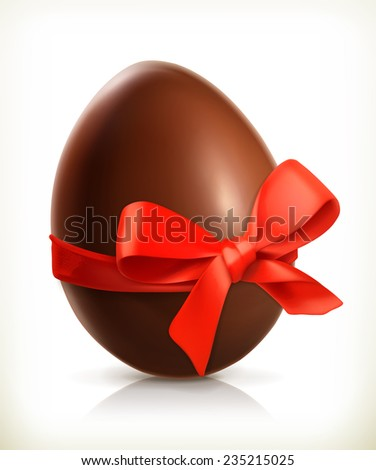 Chocolate easter egg vector icon