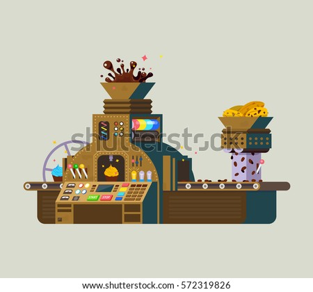 chocolate factory vector