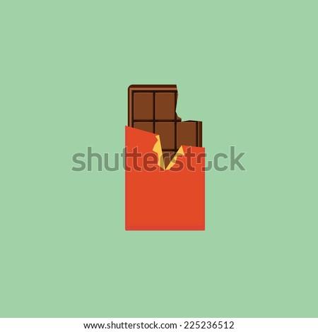 chocolate  flat style