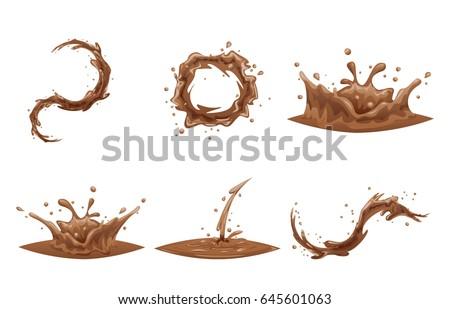 chocolate flowing splash drop...