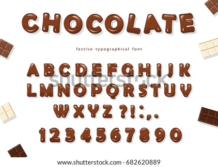 chocolate font design sweet