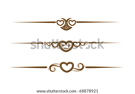 chocolate heart symbol for