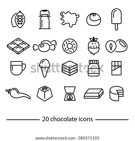 chocolate icons collection