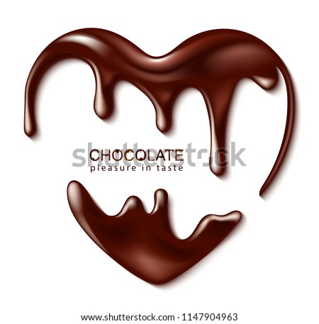 chocolate in the form of heart