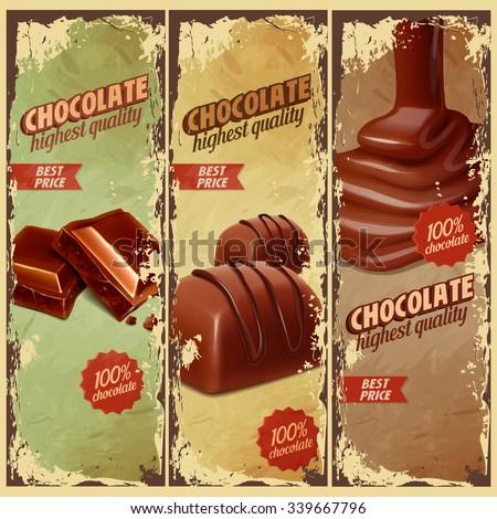 chocolate labels vintage