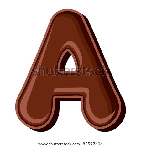 Chocolate letter A