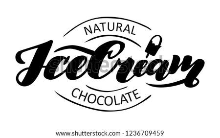 chocolate logo  ice cream