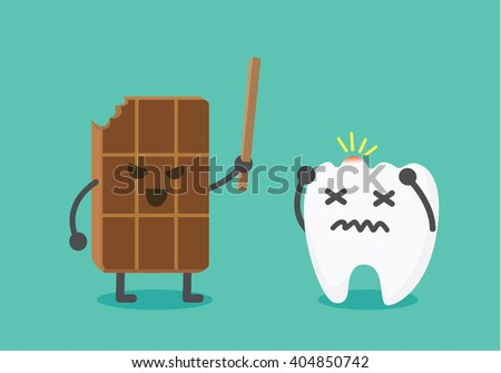 chocolate make pain to tooth