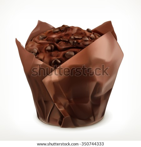 chocolate muffin  vector icon