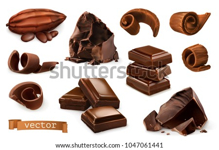 chocolate pieces  shavings