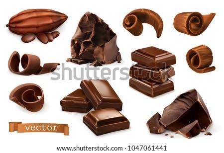 chocolate pieces  shavings