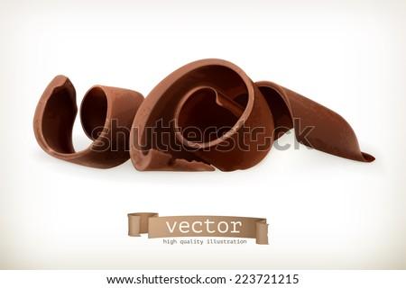 chocolate shavings  vector