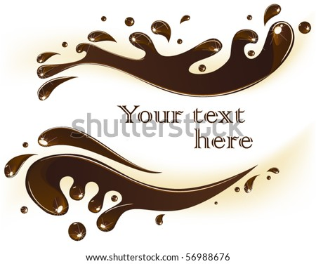 Chocolate splash card