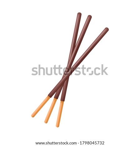 Chocolate sticks. Dipped stick. Dipped stick pattern vector. chocolate dipped cookie sticks.