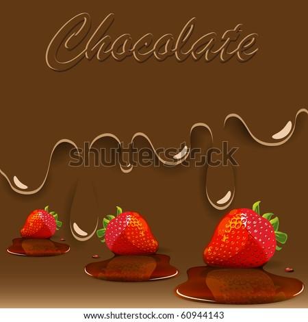 chocolate, strawberry and caramel