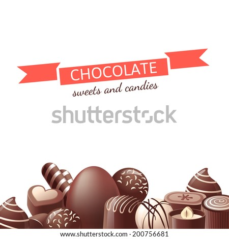 chocolate sweets and candies