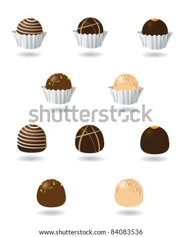 chocolate truffle icons a