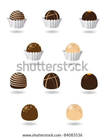 chocolate truffle icons a