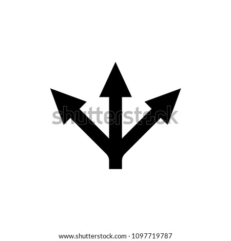 choice / arrows / 3 ways / variety icon