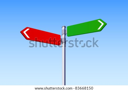 Choice Concept - Two Road Signs