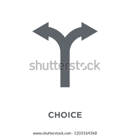 Choice icon. Choice design concept from Human resources collection. Simple element vector illustration on white background.