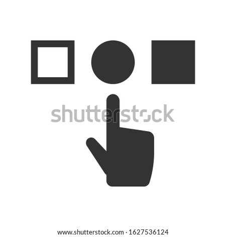 Choice, selection icon. vector graphics