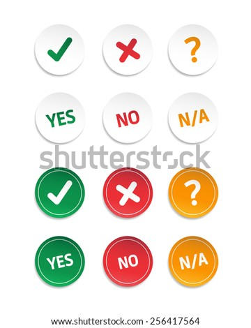 choice yes  no    n a stickers