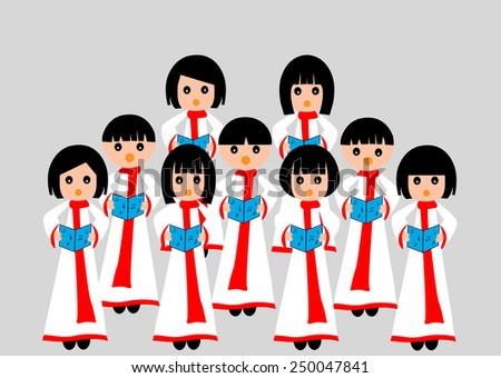 choir singing a group of