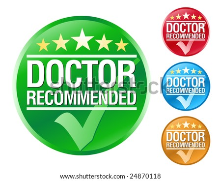 Choose from 4 different colored doctor recommended icons with a check mark.