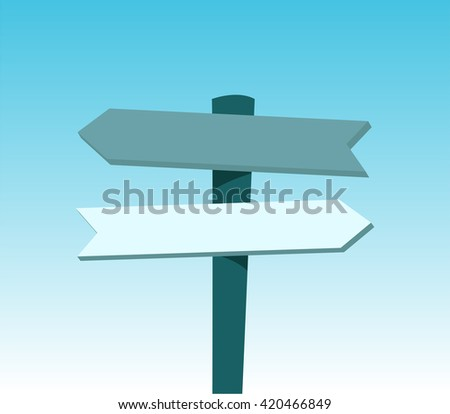 Choose the way to success. Flat design for business financial marketing banking advertising commercial event minimal concept cartoon illustration. #420466849
